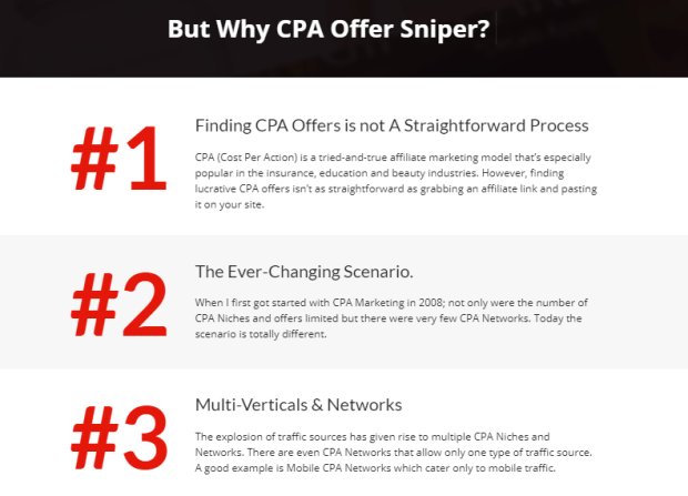 CPA Offer Sniper PRO