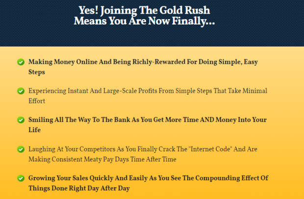 The Gold Rush Training System & OTO by Michael Cheney
