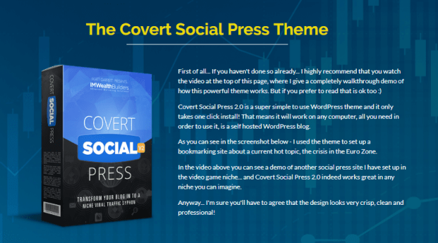 Covert Social Press 2.0 Theme by IM wealth builders