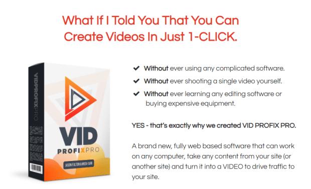 VidProfixPro Unlimited Software WSO & OTO by Mosh Bari