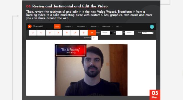 Vidmonial 2.0 Software OTO Upsell by Ben Murray