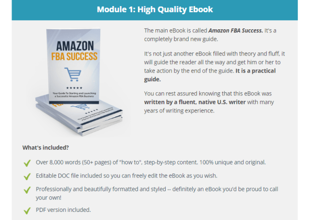 Amazon FBA Success PLR + OTO by Aurelius Tjin