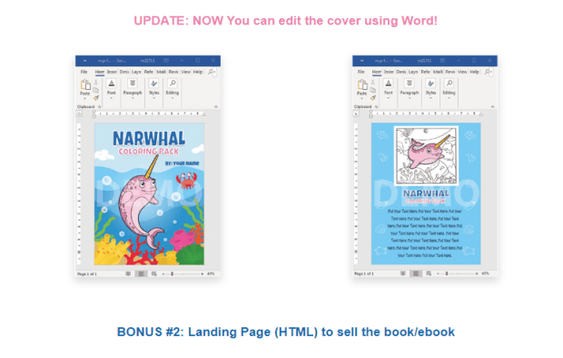 Narwhal Coloring Pack Review by pixelcrafter
