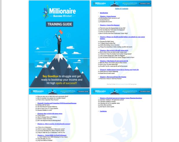 Millionaire Success Mindset PLR & OTO by Fielaunchers