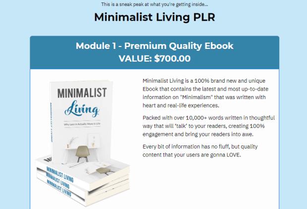 Minimalist Living PLR With Sales Funnel by Yu Shaun