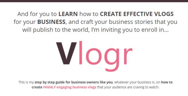 Vlogr Vlogging Course & OTO by Cham Althais