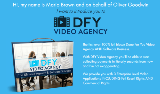 DFY Video Agency & OTO by Mario Brown