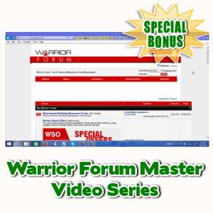 Special Bonuses - July 2015 - Warrior Forum Master Video Series