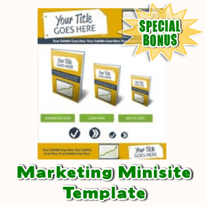 Special Bonuses - July 2015 - Marketing Minisite Template