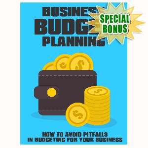 Special Bonuses - July 2015 - Business Budget Planning