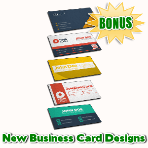 Female Mascot Maker Bonuses  - New Business Card Designs