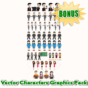 Female Mascot Maker Bonuses  - Vector Characters Graphics Pack