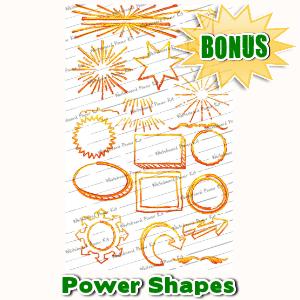 Whiteboard Power Kit Bonuses  - Power Shapes