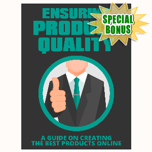 Special Bonuses - September 2015 - Ensuring Product Quality