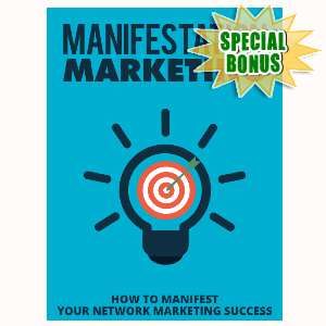 Special Bonuses - September 2015 - Manifestation Marketing