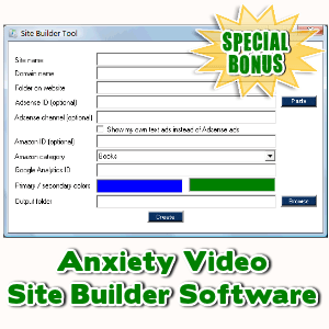 Special Bonuses - February 2016 - Anxiety Video Site Builder Software