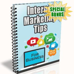 Special Bonuses - May 2016 - Internet Marketing Tips Newsletter