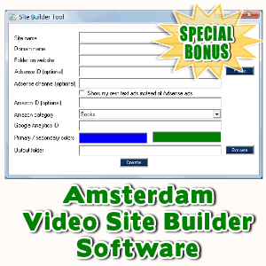 Special Bonuses - June 2016 - Amsterdam Video Site Builder Software