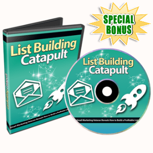 Special Bonuses - October 2016 - List Building Catapult Video Series Part 1