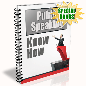 Special Bonuses - December 2016 - Public Speaking Know How