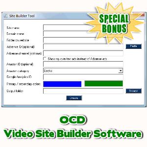 Special Bonuses - March 2017 - OCD Video Site Builder Software