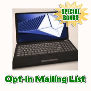 Special Bonuses - April 2017 - Opt-In Mailing List