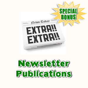 Special Bonuses - April 2017 - Newsletter Publications