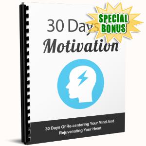 Special Bonuses - June 2017 - 30 Days Motivation