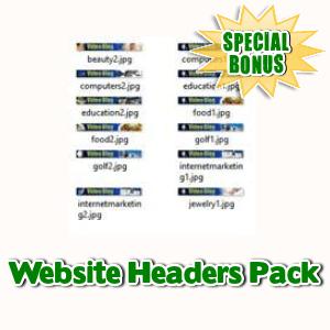 Special Bonuses - June 2017 - Website Headers Pack