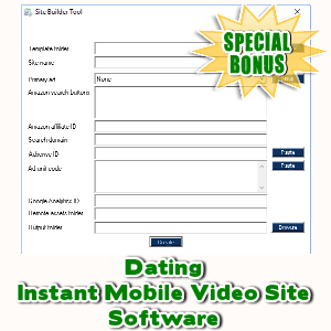 Special Bonuses - October 2017 - Dating Instant Mobile Video Site Software