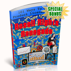 Special Bonuses - October 2017 - Resell Rights Renegade Pack