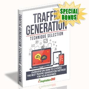 Special Bonuses - November 2017 - Traffic Generation Technique Selection