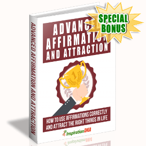 Special Bonuses - November 2017 - Advanced Affirmation And Attraction