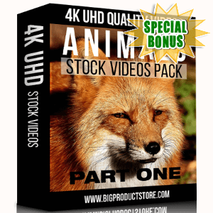 Special Bonuses - November 2017 - Animals 4K UHD Stock Videos Part 1 Pack