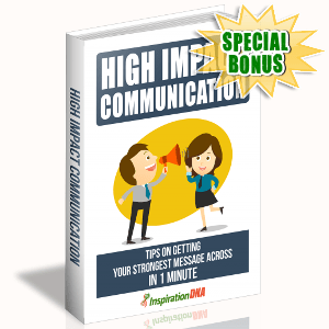 Special Bonuses - November 2017 - High Impact Communication