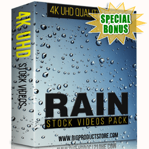 Special Bonuses - November 2017 - Rain 4K Stock Videos Pack
