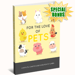 Special Bonuses - November 2017 - For The Love Of Pets