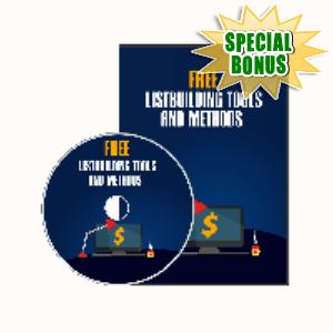 Special Bonuses - November 2019 - Free List Building Tools And Methods Video Series Pack