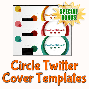 Special Bonuses - March 2020 - Circle Twitter Cover Templates