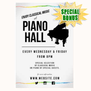 Special Bonuses - March 2020 - Classic Music Flyer Template