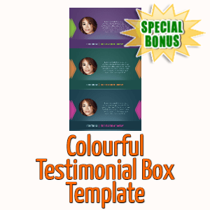Special Bonuses - April 2020 - Colourful Testimonial Box Template