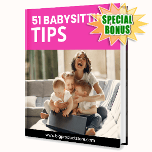 Special Bonuses - June 2020 - 51 babysitting Tips