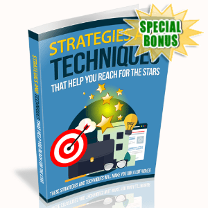 Special Bonuses - July 2020 - Strategies And Techniques That Help You Reach For The Stars