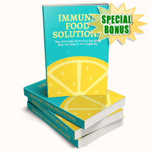 Special Bonuses - August 2020 - Immune Food Solutions Pack