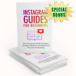 Special Bonuses #31 - January 2021 - Instagram Guides For Beginners Pack