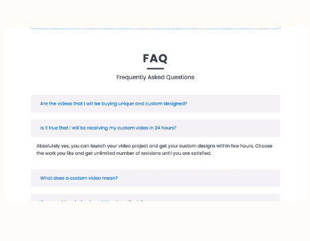 Agency Studio Features - Add a FAQ section