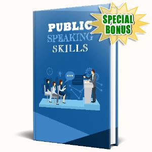 Special Bonuses #31 - May 2021 - Public Speaking Skills