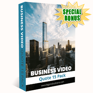 Special Bonuses #6 - October 2021 - Business Video Quote #15 Pack