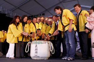 Autoridades participam do ritual da quebra do taru
