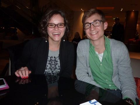 (Left) Magda Dorosz and Emil Jezowski in Warsaw. /Sue Fishkoff